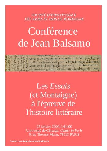 AG et conférence de Jean Balsamo